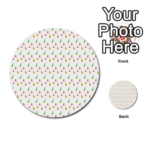 Fruit Pattern Vector Background Multi-purpose Cards (Round)