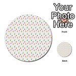 Fruit Pattern Vector Background Multi-purpose Cards (Round)  Back 36