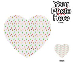 Fruit Pattern Vector Background Multi-purpose Cards (Heart)