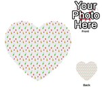 Fruit Pattern Vector Background Multi-purpose Cards (Heart)  Back 30