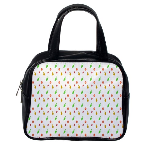 Fruit Pattern Vector Background Classic Handbags (One Side)