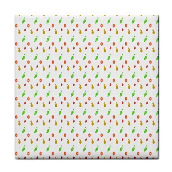 Fruit Pattern Vector Background Face Towel