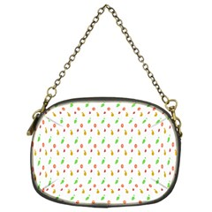 Fruit Pattern Vector Background Chain Purses (One Side)