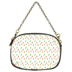 Fruit Pattern Vector Background Chain Purses (Two Sides)