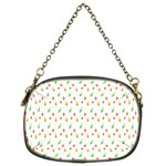 Fruit Pattern Vector Background Chain Purses (Two Sides)  Back