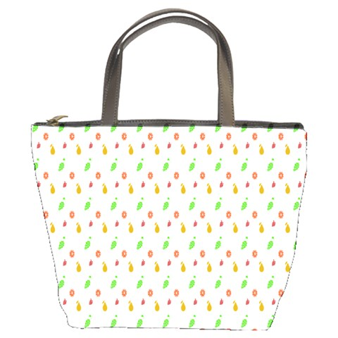 Fruit Pattern Vector Background Bucket Bags