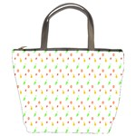 Fruit Pattern Vector Background Bucket Bags Front