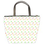 Fruit Pattern Vector Background Bucket Bags Back