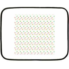 Fruit Pattern Vector Background Fleece Blanket (Mini)