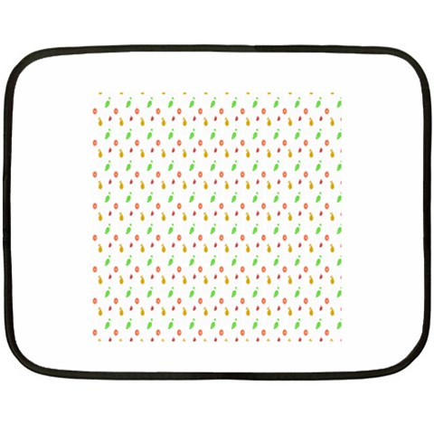 Fruit Pattern Vector Background Double Sided Fleece Blanket (Mini)