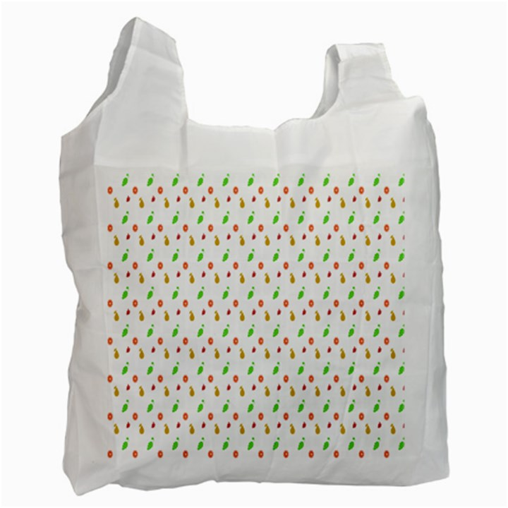 Fruit Pattern Vector Background Recycle Bag (One Side)