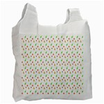 Fruit Pattern Vector Background Recycle Bag (Two Side)  Front