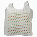 Fruit Pattern Vector Background Recycle Bag (Two Side)  Back