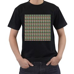 Fruit Pattern Vector Background Men s T-Shirt (Black)