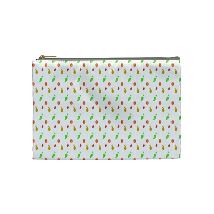 Fruit Pattern Vector Background Cosmetic Bag (Medium)