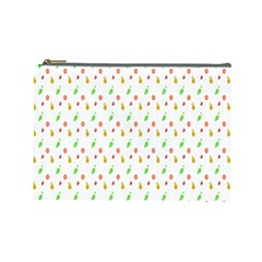 Fruit Pattern Vector Background Cosmetic Bag (Large)