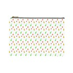 Fruit Pattern Vector Background Cosmetic Bag (Large)  Front