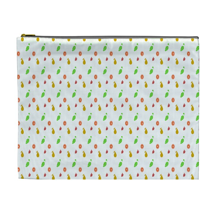 Fruit Pattern Vector Background Cosmetic Bag (XL)