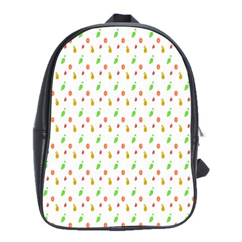 Fruit Pattern Vector Background School Bags(Large)
