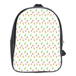 Fruit Pattern Vector Background School Bags(Large)  Front