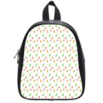 Fruit Pattern Vector Background School Bags (Small)  Front