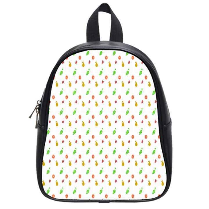 Fruit Pattern Vector Background School Bags (Small)