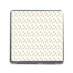 Fruit Pattern Vector Background Memory Card Reader (Square) Front