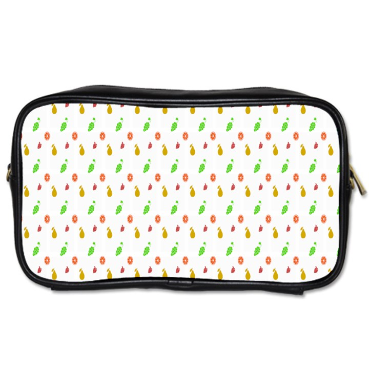 Fruit Pattern Vector Background Toiletries Bags 2-Side
