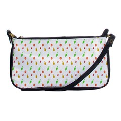 Fruit Pattern Vector Background Shoulder Clutch Bags