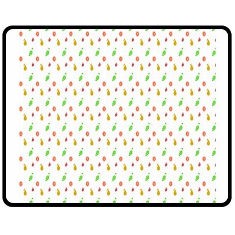 Fruit Pattern Vector Background Fleece Blanket (Medium)