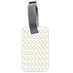 Fruit Pattern Vector Background Luggage Tags (One Side)