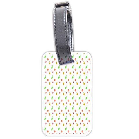 Fruit Pattern Vector Background Luggage Tags (Two Sides)