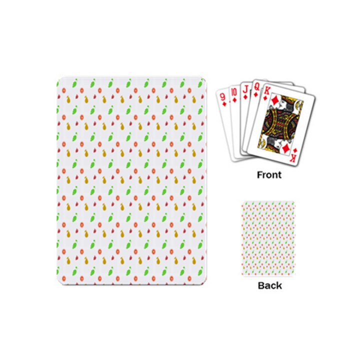 Fruit Pattern Vector Background Playing Cards (Mini)
