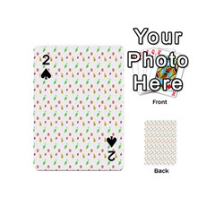 Fruit Pattern Vector Background Playing Cards 54 (Mini)