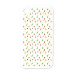 Fruit Pattern Vector Background Apple iPhone 4 Case (White) Front