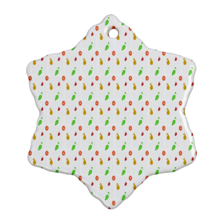 Fruit Pattern Vector Background Ornament (Snowflake)