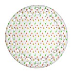 Fruit Pattern Vector Background Round Filigree Ornament (2Side) Front