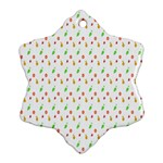 Fruit Pattern Vector Background Snowflake Ornament (2-Side) Front