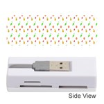 Fruit Pattern Vector Background Memory Card Reader (Stick)  Front