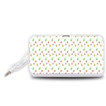 Fruit Pattern Vector Background Portable Speaker (White)  Front
