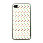 Fruit Pattern Vector Background Apple iPhone 4 Case (Clear) Front