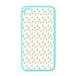 Fruit Pattern Vector Background Apple iPhone 4 Case (Color) Front