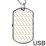 Fruit Pattern Vector Background Dog Tag USB Flash (One Side) Front
