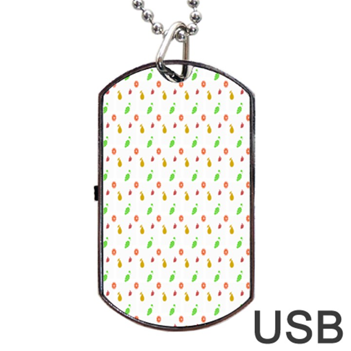 Fruit Pattern Vector Background Dog Tag USB Flash (Two Sides)