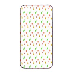 Fruit Pattern Vector Background Apple iPhone 4/4s Seamless Case (Black)