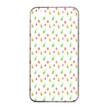 Fruit Pattern Vector Background Apple iPhone 4/4s Seamless Case (Black) Front