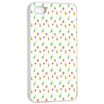 Fruit Pattern Vector Background Apple iPhone 4/4s Seamless Case (White) Front
