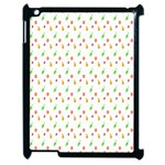 Fruit Pattern Vector Background Apple iPad 2 Case (Black) Front