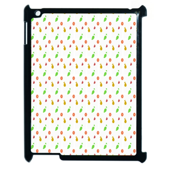 Fruit Pattern Vector Background Apple iPad 2 Case (Black)