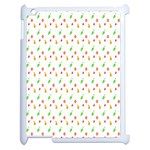 Fruit Pattern Vector Background Apple iPad 2 Case (White) Front